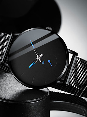 cheap Quartz Watches-Men's Dress Watch Quartz Modern Style Stylish Casual Water Resistant / Waterproof Stainless Steel Black / Silver Analog - Rose Gold Red Blue One Year Battery Life