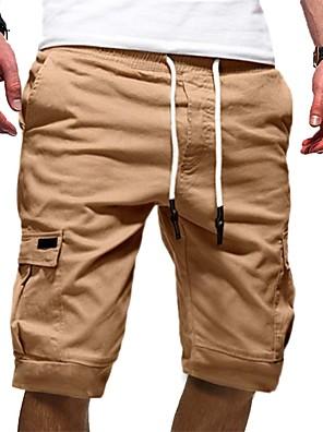 cheap Men's Pants & Shorts-Men's Basic Cotton Chinos Shorts Pants - Solid Colored White Black Khaki S / M / L
