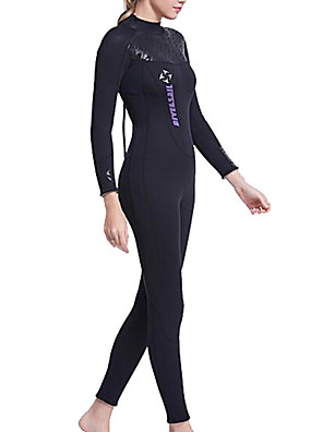 cheap Wetsuits, Diving Suits & Rash Guard Shirts-Dive&Sail Women's Full Wetsuit 3mm Nylon SCR Neoprene Diving Suit Thermal / Warm Waterproof UV Sun Protection Long Sleeve Back Zip - Swimming Diving Surfing Spring Summer Fall / Breathable