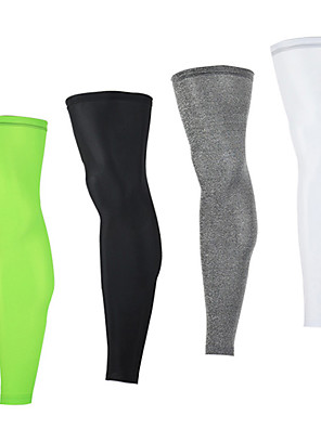 cheap Men's Cycling Jersey & Shorts / Pants Sets-Arsuxeo Leg Warmers / Knee Warmers Solid Color UPF 50 Lightweight Sunscreen UV Resistant Breathable Bike / Cycling White Black Light Green Elastane Winter for Men's Women's Adults' Road Bike Mountain