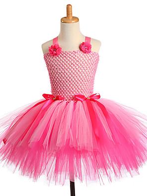 cheap Girls' Dresses-Handmade Dance Performance Flower Kids Girls Party Dresses Unicorn Cosplay Costume Pink