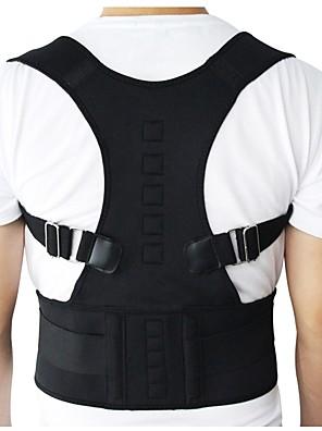 cheap Boys' Tops-Men Women Adjustable Magnetic Posture Corrector Corset Back Brace Back Belt Lumbar Support Straight Corrector
