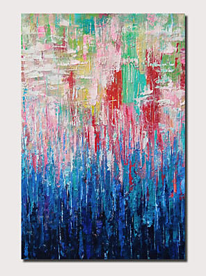 cheap Cocktail Dresses-Oil Painting Hand Painted - Abstract Landscape Comtemporary Modern Stretched Canvas