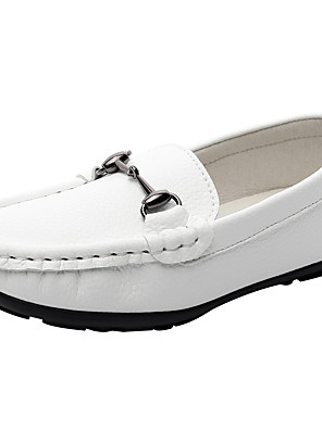 cheap Girls' Dresses-Boys' / Girls' Comfort Nappa Leather Loafers & Slip-Ons Little Kids(4-7ys) / Big Kids(7years +) White / Black Spring / Fall / Rubber