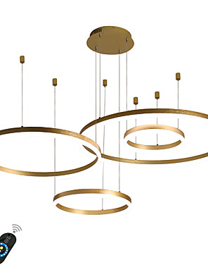 cheap Evening Dresses-1-Light LED 110W Circle Chandelier/ LED Modern Pendant Lights For Living Room Coffee Bar Show Room Office/ 4 layors/ Warm White / White / Dimmable With Remote Control / WIFI Smart via Voice Control