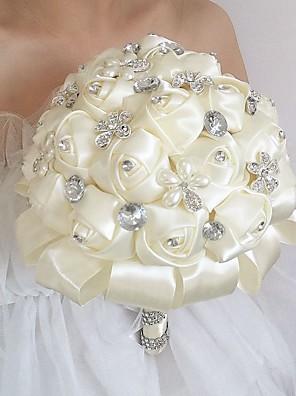 cheap Wedding Wraps-Wedding Flowers Bouquets Wedding / Wedding Party Silk 21-30 cm