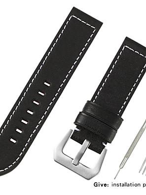 cheap Quartz Watches-Genuine Leather / Calf Hair Watch Band Black / Red / Brown 20cm / 7.9 Inches 2.2cm / 0.9 Inches / 2.4cm / 0.94 Inches / 2.6cm / 1.02 Inches