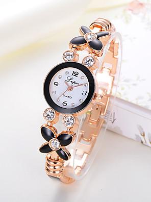 cheap Quartz Watches-Ladies Quartz Watches Cubic Zirconia Elegant Fashion Silver Rose Gold Alloy Chinese Quartz Golden+Black White+Silver White+Gold Casual Watch Imitation Diamond 1 pc Analog One Year Battery Life