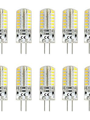 cheap Wedding Slips-10pcs 3 W LED Bi-pin Lights 300 lm G4 T 48 LED Beads SMD 3014 Warm White White Red 12 V
