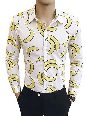 cheap Shirts-Men's Fruit Shirt Basic Casual White / Navy Blue