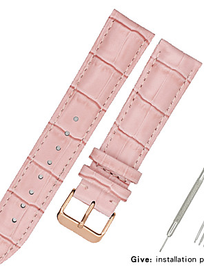 cheap Leather Watch Bands-Genuine Leather / Leather / Calf Hair Watch Band Black / White / Blue Other / 17cm / 6.69 Inches / 19cm / 7.48 Inches 1.2cm / 0.47 Inches / 1.3cm / 0.5 Inches / 1.4cm / 0.55 Inches