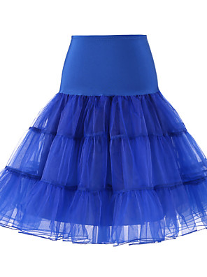 cheap Wedding Slips-Wedding / Wedding Party Slips Tulle / Polyester Knee-Length Solid Color / Tutus & Skirts with