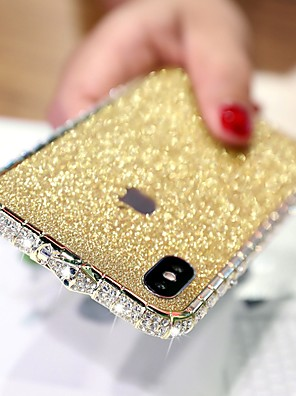 cheap iPhone Cases-Case For Apple iPhone XS / iPhone XR / iPhone XS Max Rhinestone Back Cover Solid Colored Hard Metal