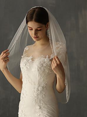 cheap Wedding Veils-One-tier Stylish Wedding Veil Elbow Veils with Fringe Tulle / Angel cut / Waterfall