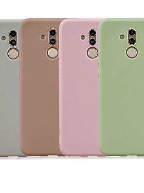 cheap Huawei Case-Case For Huawei Mate 10 lite / Huawei Mate 20 lite Frosted Back Cover Solid Colored Soft TPU
