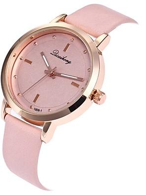 cheap Watches-Women's Sport Watch Quartz Leather Casual Watch Analog Minimalist - Black White Burgundy / Stainless Steel