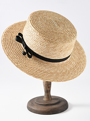 cheap Men's Accessories-Straw Hats with Solid 1 Piece Casual / Daily Wear Headpiece