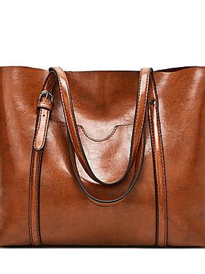 cheap Quartz Watches-Women's Bags PU Leather Tote Zipper for Daily Wine / Black / Blue