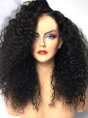 cheap Sexy Bodies-Synthetic Wig Afro Curly Layered Haircut Wig Medium Length Natural Black Synthetic Hair 42~46 inch Women's New Arrival Black