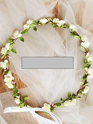 cheap Wedding Dresses-Grosgrain / Non-woven Paper Hair Accessory / DIY  Headpieces with Flower 1 Piece Wedding / Outdoor Headpiece