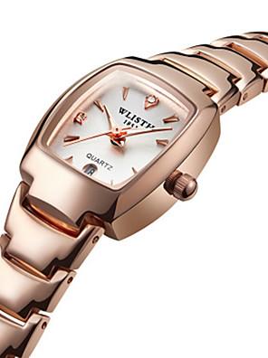 cheap Quartz Watches-Women's Quartz Watches Quartz Stylish Fashion Water Resistant / Waterproof Stainless Steel Black / Silver / Gold Analog - White / Black Golden+White Black / Calendar / date / day / Noctilucent
