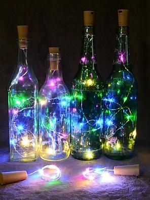 cheap Women's Blouses & Shirts-2M 20 LEDS Wine Bottle Lights Cork Shape Wire Colorful Fairy String Lights NO battery