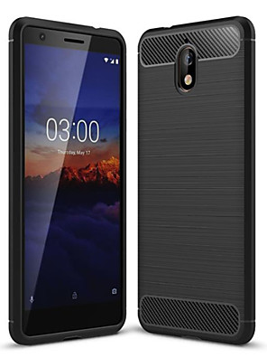 cheap Other Phone Case-Case For Nokia Nokia 5.1 / Nokia 3.1 Dustproof Back Cover Solid Colored Soft Carbon Fiber