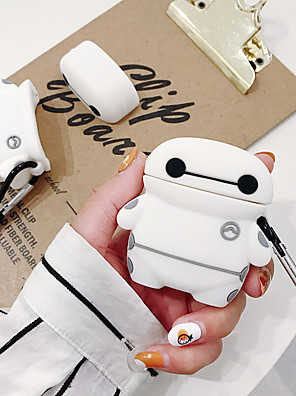 cheap Earphone Accessories-Case For AirPods Shockproof / Pattern / Lovely Headphone Case Soft