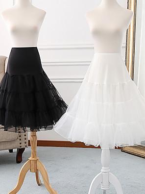 cheap Wedding Slips-Ballet Classic Lolita 1950s Dress Petticoat Hoop Skirt Tutu Crinoline Women's Girls' Tulle Costume Black / Grey / White Vintage Cosplay Party Performance Princess
