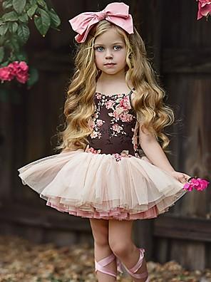 cheap Baby Girls'  Dresses-Baby Girls' Basic Floral Sleeveless Dress Blushing Pink