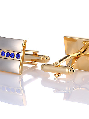cheap Men's Accessories-Cufflinks Classic Fashion Crystal Brooch Jewelry Golden For Wedding