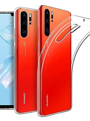 رخيصةأون Huawei أغطية / كفرات-غطاء من أجل Huawei هواوي P30 / Huawei P30 Pro نحيف جداً / مثلج غطاء خلفي لون سادة TPU