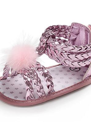 cheap Girls' Dresses-Girls' First Walkers PU Sandals Infants(0-9m) / Toddler(9m-4ys) Peach / Gold / Silver Summer