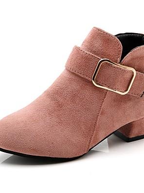 cheap Girls' Dresses-Girls' Combat Boots Synthetics Boots Little Kids(4-7ys) Black / Red / Pink Fall / Mid-Calf Boots