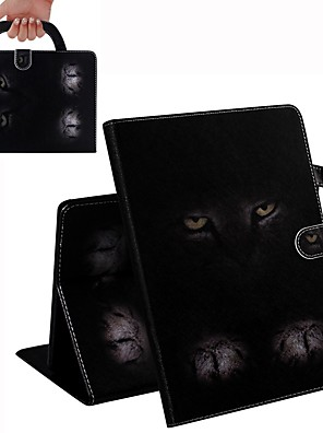 cheap Cell Phone Cables-Case For iPad Air / iPad 4/3/2 / iPad (2018) Wallet / Card Holder / Shockproof Full Body Cases Cat PU Leather Case For iPad Air 2 / iPad (2017) / iPad Pro 9.7