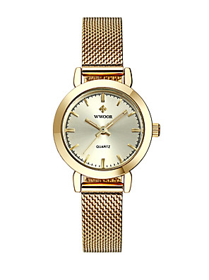cheap Quartz Watches-Women's Quartz Watches Quartz Formal Style Modern Style Casual Water Resistant / Waterproof Silver / Gold / Rose Gold Analog - Rose Gold White+Golden Blushing Pink / Noctilucent