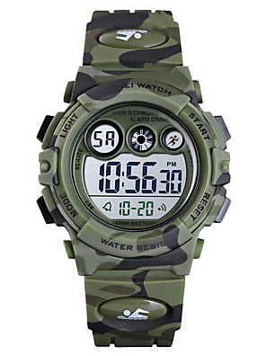 cheap Smart Watches-Boys' Digital Watch Digital New Arrival Water Resistant / Waterproof Silicone Blue / Green / Navy Digital - Blue Green Dark Blue / Stopwatch / Noctilucent