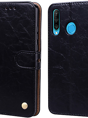 رخيصةأون Huawei أغطية / كفرات-القضية لهواوي p30 لايت قصر زهرة بو الجلود مع فتحة بطاقة الوجه صعودا وهبوطا لهواوي p30 لايت