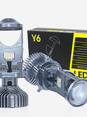 cheap Bridesmaid Dresses-New 2pcs HI/LO H4 LED  left-hand driving LHD driving mini projector lens headlight for car clear beam pattern 12V 6000k no astigmatic problem lifetime warranty