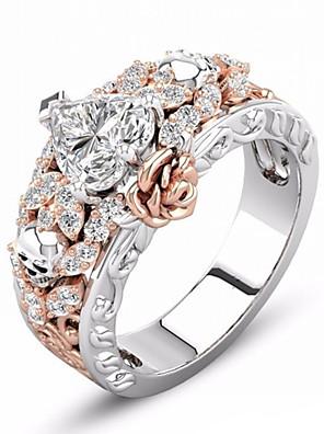 זול שעונים קוורץ-בגדי ריקוד נשים טבעת 1pc שחור זהב ורד יהלום מדומה סגסוגת לא סדיר וינטאג' קוראני אופנתי יומי תכשיטים קלאסי גולגולת