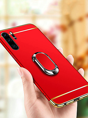cheap Huawei Case-3 in1 Plating Hard PC Magnetic Holder Ring Case For Huawei P30 Pro P30 Lite P30 P20 Pro P20 Lite P20