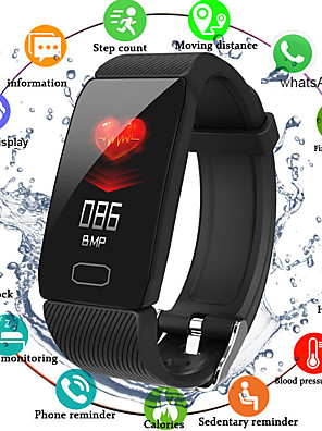 cheap Smart Watches-Q1 Unisex Smart Wristbands Android iOS Bluetooth Waterproof Heart Rate Monitor Blood Pressure Measurement Distance Tracking Information Pedometer Call Reminder Activity Tracker Sleep Tracker