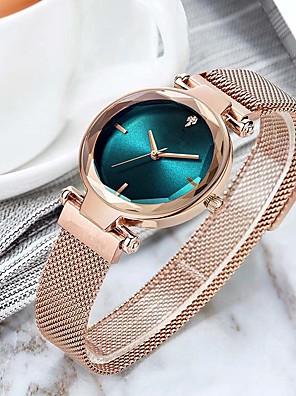 cheap Quartz Watches-Women's Quartz Watches Quartz Elegant Chronograph Stainless Steel Black / Blue / Silver Analog - Rose Gold White Black One Year Battery Life