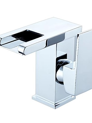 cheap Mother of the Bride Dresses-Bathroom Sink Faucet - LED Multi-Ply Free Standing Single Handle One HoleBath Taps