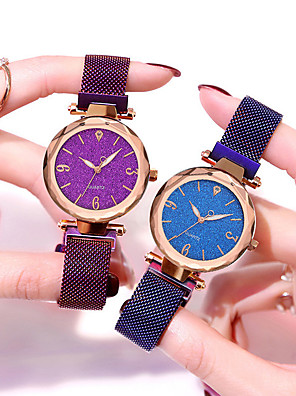 cheap Quartz Watches-Women's Bracelet Watch Sparkle Fashion Black Red Gold Steel Chinese Quartz Black Purple Blushing Pink Casual Watch 1 pc Analog