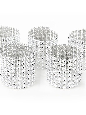 cheap Shirts-10pcs Gold Silver Napkin Ring Chairs Buckles Wedding Event Decoration Crafts Rhinestone Bows Holder Handmade Party Supplies