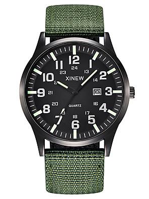 cheap Sport Watches-Men's Sport Watch Quartz Outdoor Calendar / date / day Nylon Black / Blue / Brown Analog - Black Black / Green Blue One Year Battery Life / Chronograph / Noctilucent