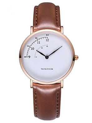 cheap Sport Watches-Women's Quartz Watches Quartz Casual Water Resistant / Waterproof PU Leather Black / Brown Analog - Black Brown