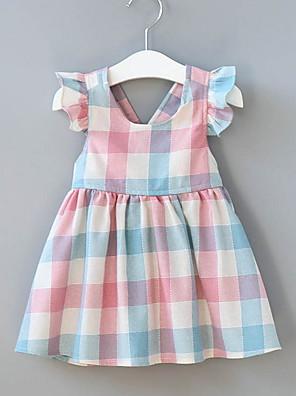 cheap Girls' Dresses-Toddler Girls' Active Check Sleeveless Above Knee Dress Blushing Pink