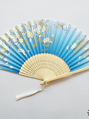 cheap Evening Dresses-4pcs Bamboo Folding Hand Fans Wedding Favours Wedding Supplies Gift 21cm Long